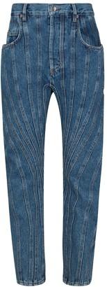 Thierry Mugler Seam-Detail Boyfriend Jeans