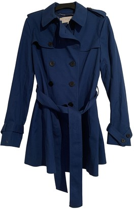 Hobbs Blue Cotton Trench Coat for Women