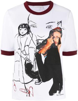Chloé x Rita Ackermann graphic print ringer T-shirt