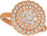 LeVian Le Vian Strawberry & NudeTM Diamond Halo Cluster Ring (1 ct. t.w.) in 14k Rose Gold