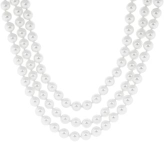 FANTASIA Multi-Strand Pearl Necklace with Moto Clasp