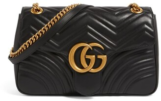 Gucci Medium Leather Marmont Matelasse Shoulder Bag