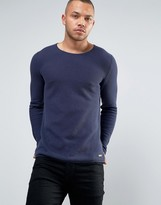 Esprit 100% Cotton Knitted Jumper With Open Hem