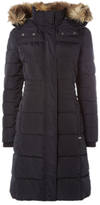 White Stuff Thirlmere Long Quilted Coat, Navy