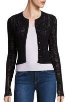 Rebecca Taylor Flamme Rib-Knit Cardigan