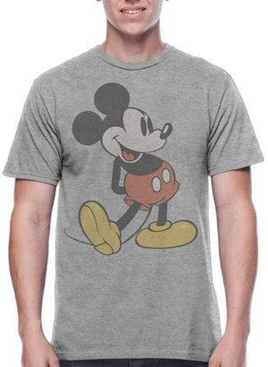"""Men's Disney Mickey Mouse Vintage """"Mickey"""" Character Shot Short Sleeve Graphic Tee"""