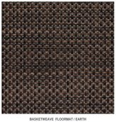 "Chilewich Basketweave - Earth Floormat by 30"" x 106"""