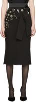 Dolce & Gabbana Black Embroidered Buttons Skirt