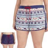 Cuddl Duds Plus Size Pajamas: Under the Mistletoe 2-pack Boxer Shorts Set