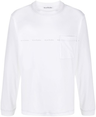 Acne Studios logo print long-sleeve T-shirt