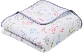 Trend Lab Dr. Seuss New Fish Luxe Muslin Blanket