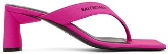 Balenciaga Pink Flip Flop Heels