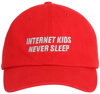 Ziq & Yoni Never Sleep Embroidered Cotton Cap