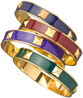 Janna Conner Designs Gold and Enamel Small Charm Bangle Bracelets