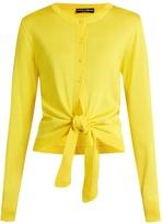 Dolce & Gabbana Tie-front silk-knit cardigan