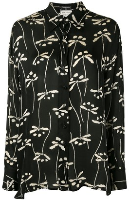 Chanel Pre Owned 1998 Floral Print Silk Shirt