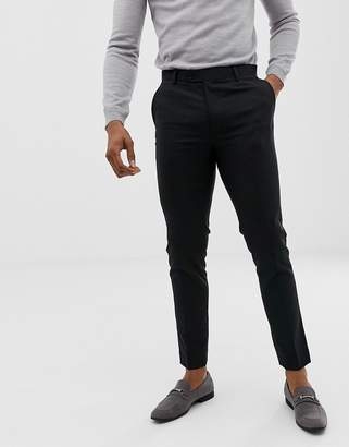 Avail London skinny suit trousers in black