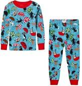 Hatley Blue Raining Dogs Print Pyjamas