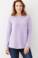 J. Jill Double-Knit Shoulder-Button Top