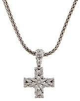 John Hardy Diamond Cross Pendant Necklace