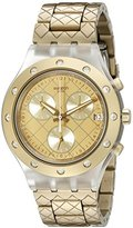 Swatch Unisex SVCK4082AG Irony Analog Display Swiss Quartz Gold Watch