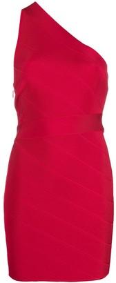 Herve Leger Icon one-shoulder mini dress