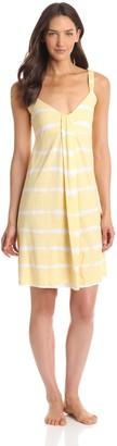 Munki Munki Women's Tie-Dye Nightgown with Keyhole