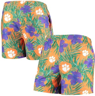 Men's Orange Clemson Tigers Swimming Trunks