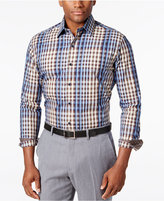 Tasso Elba Men's Big and Tall Classic Fit Plaid Long-Sleeve Shirt, Only at Macy's