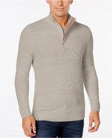 Tasso Elba Men's Quarter Zip Cotton Sweater, Only at Macy's