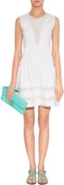 Maje Off-White Embroidered Dress