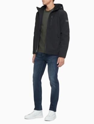 Calvin Klein Soft Shell Logo Full Zip Hooded Jacket