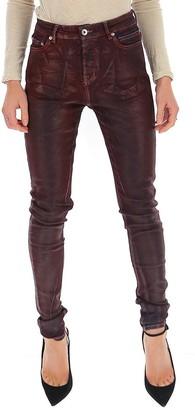 Rick Owens Distressed Skinny Fit Jeans