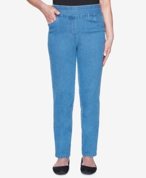 Alfred Dunner Petite Panama City Pull-On Jeans