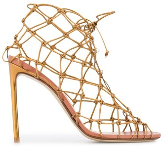 Francesco Russo fishnet sandals