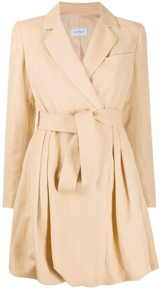 Salvatore Ferragamo Puff-Hem Wrap Dress