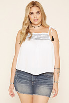 Forever 21 FOREVER 21+ Plus Size Embroidered Cami