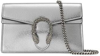 Gucci Super Mini Metallic Leather Crossbody Bag
