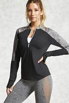Forever 21 Active Marled-Sleeve Jacket