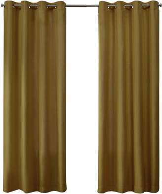 Home Outfitters Exclusive Home Loha Linen Grommet Top Window Curtain Panel Pair