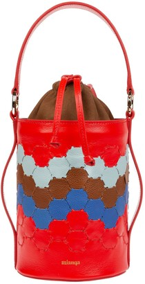 Mianqa Feride Cylinder Woven Bag Red