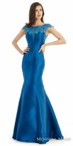 Morrell Maxie Rhinestone Applique Fit and Flare Evening Dress