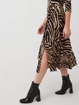 Wallis Zebra Jersey Midi Dress - Multi