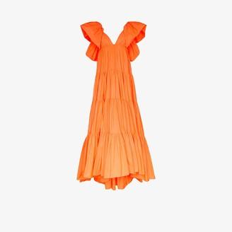 Valentino Tiered Taffeta Gown
