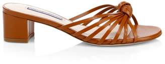 Stuart Weitzman Sidney Knotted Leather Sandals