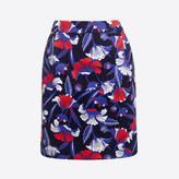 J.Crew Factory Printed basketweave mini skirt