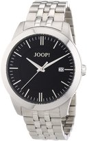 JOOP! Joop Element Men's Quartz Watch with Black Dial Analogue Display and Silver Stainless Steel Bracelet JP101061F06