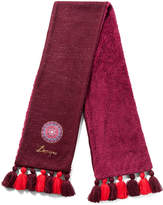 Desigual Red & Purple Medallion Tassel Scarf