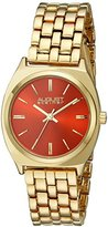 August Steiner Women's AS8186RD Yellow Gold Quartz Watch with Red Dial and Yellow Gold Bracelet