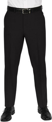 """Dockers Solid Flat Front Stretch Waistband Slim Fit Dress Pants - 30-34"""" Inseam"""